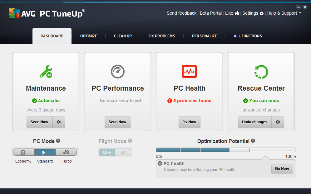 AVG PC TuneUp 2014 v14.0.1001.204 Portable