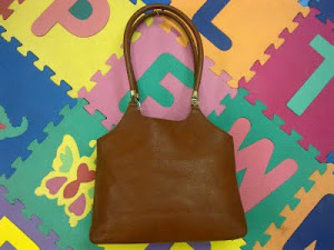 Aigner Brown Leather A-Logo Medium Handbag(SOLD