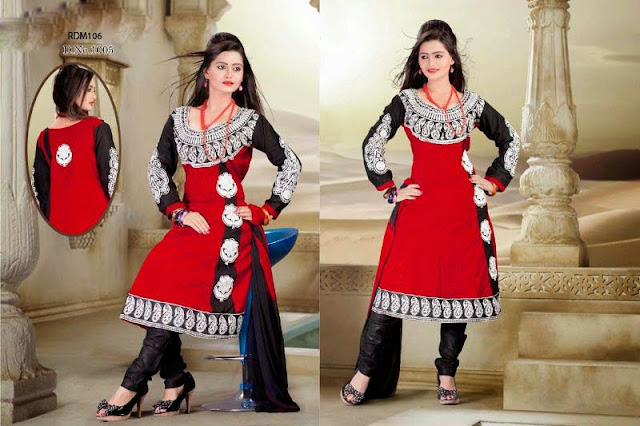 Buy online Designer Embroidered Redymade Anarkali Suit,New Arrival Readymade Anarkali Suit