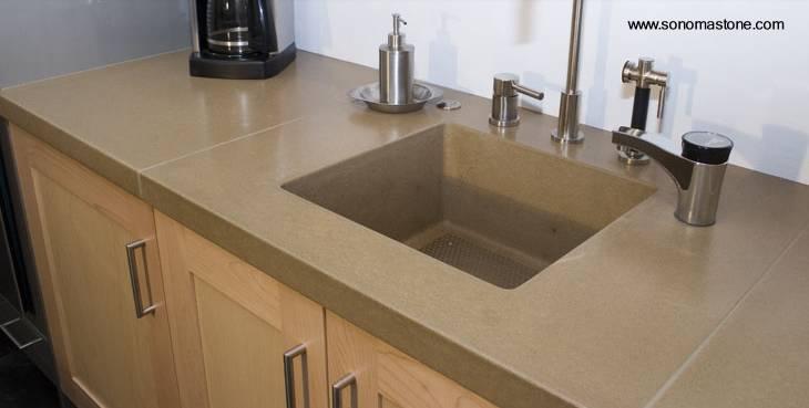 Cosinas de concreto imagui for Fregaderos modernos