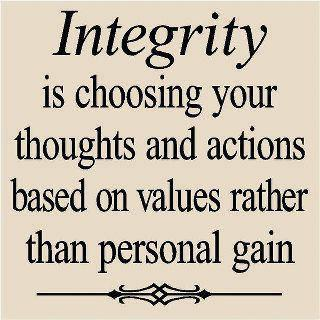 Quotes and Sayings Integrity is