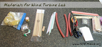 Materials for Engineering Wind Turbine Lab: from STEMmom.org