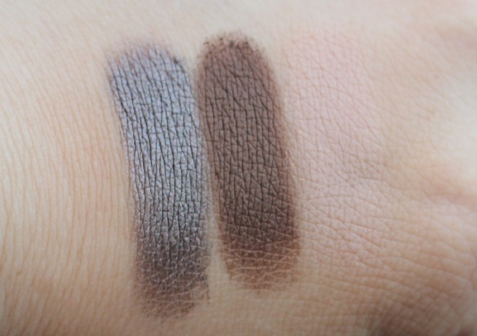 Clarins ombre matte creme shadows swatched