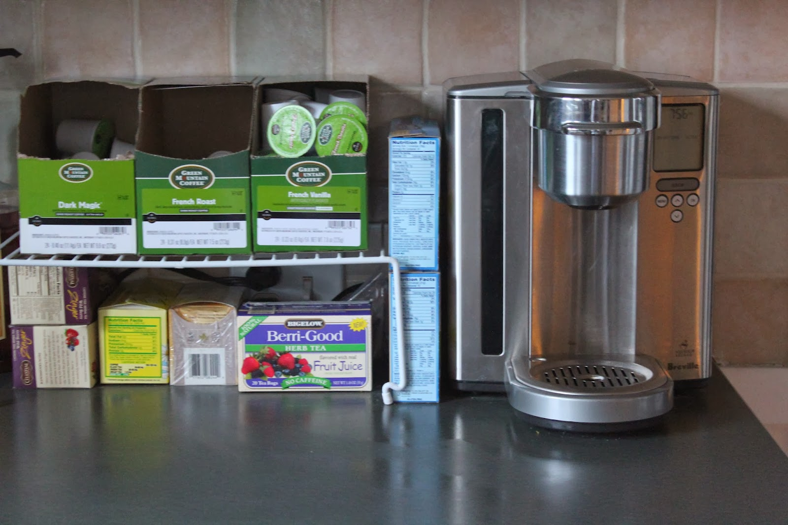 Keurig brewer and Green Mountain Coffee