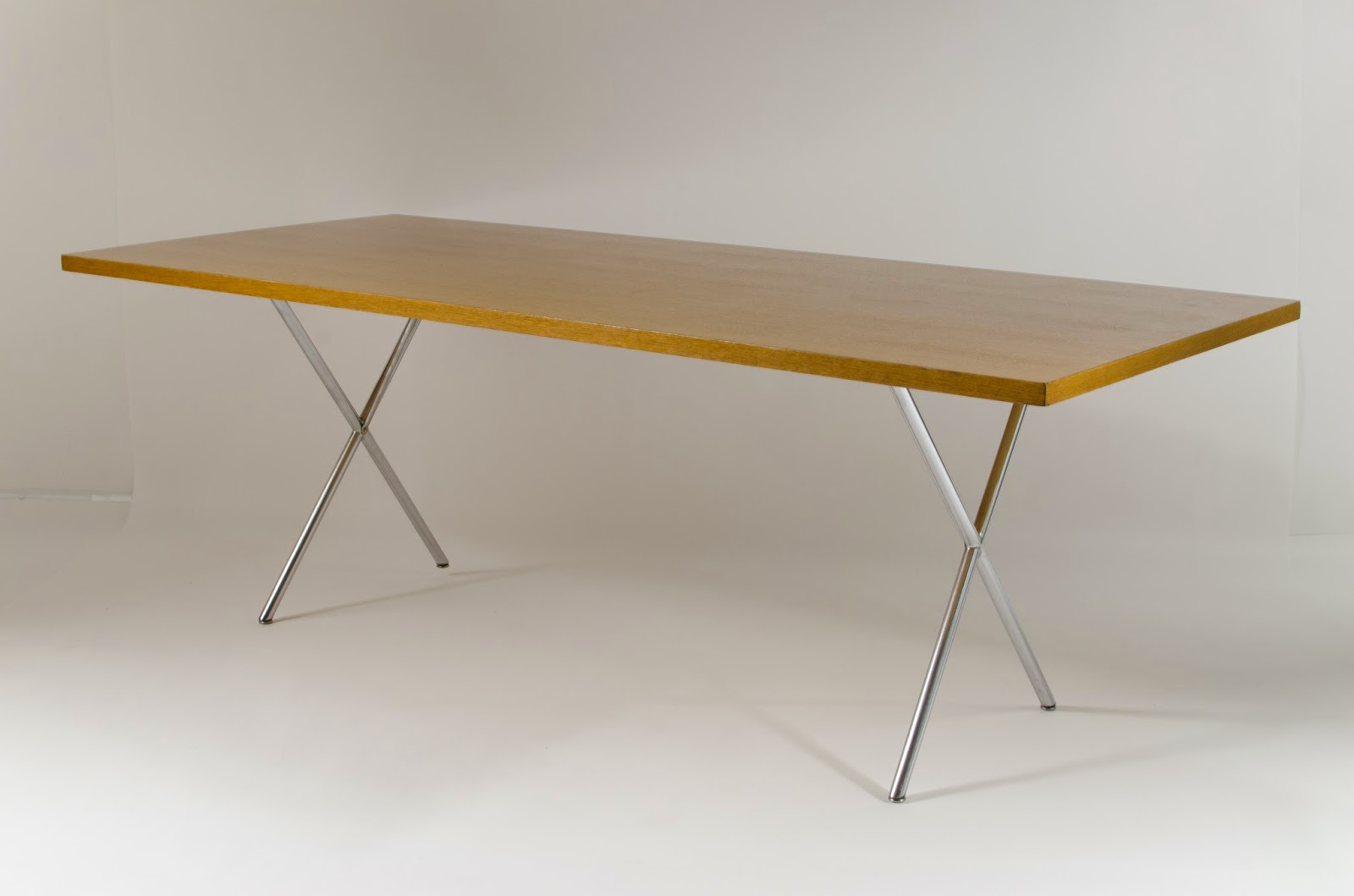 Just In Modern George Nelson X Leg Dining Table 1950