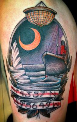Tatuaje del Titanic