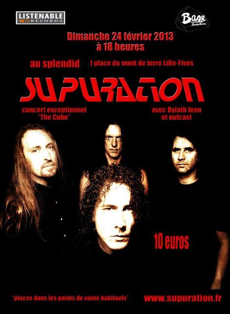 Supuration / Dylath-Leen / Outcast @ Le Splendid, Lille 24/02/2013