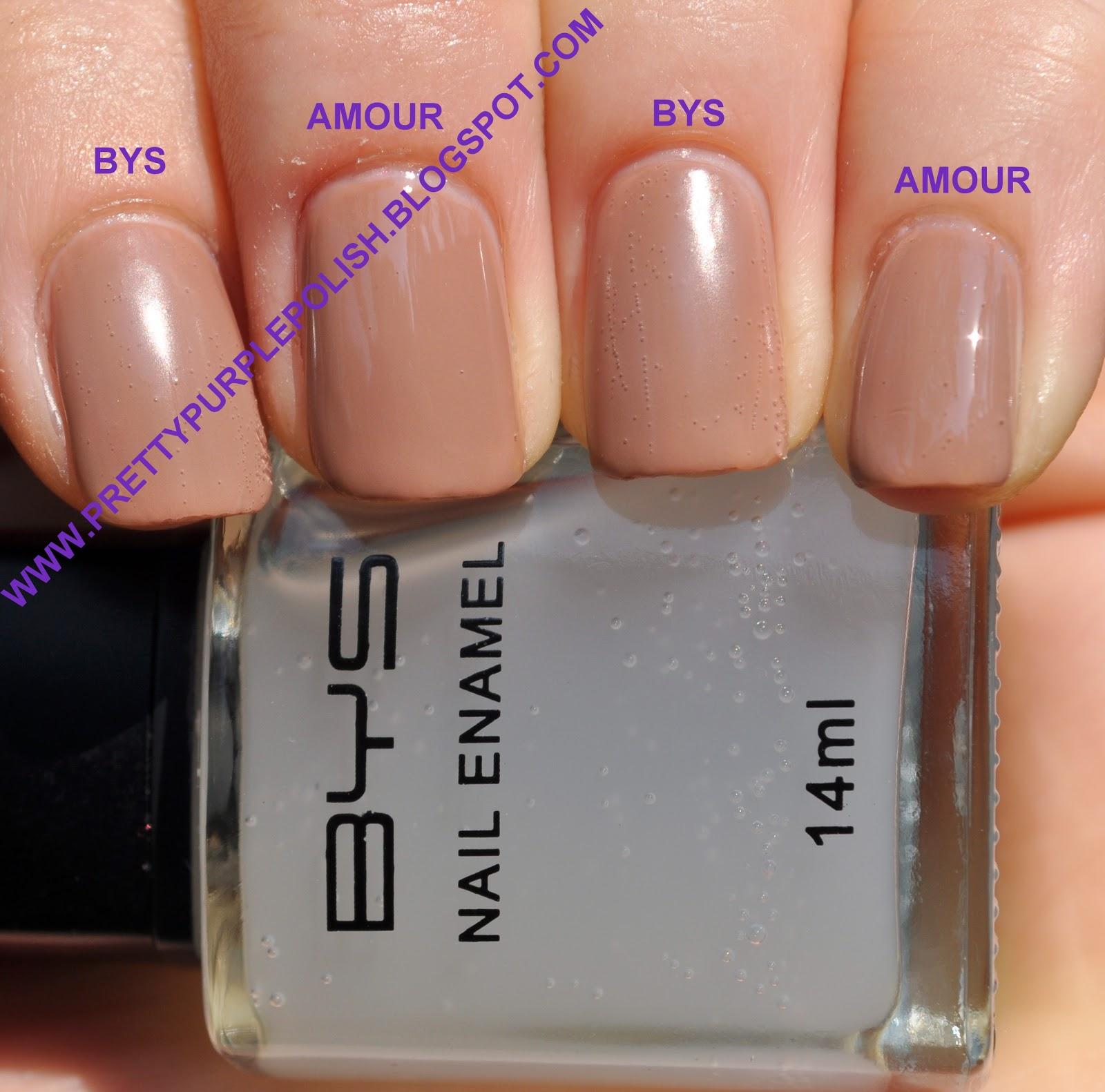 BYS - Matte & Essie - Matte About You Comparison ~ Pretty Purple Polish