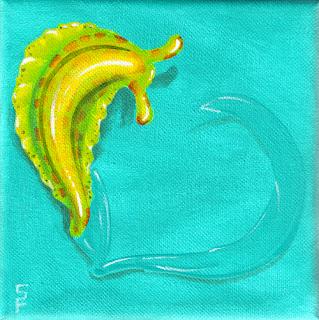 Love Slug IV Acrylic Painting