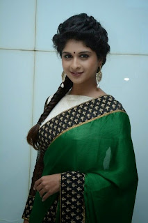 Mrudula Baskar Pictures in Saree at Thilagar Audio Launch ~ Celebs Next