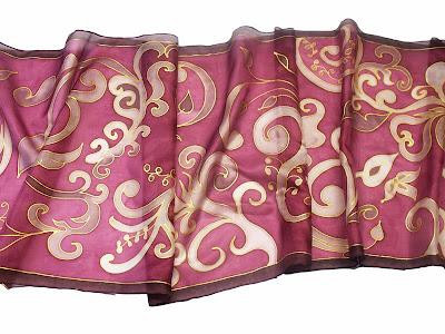 Indás selyem sálak többféle színben - ideális ajándék nőknek Karácsonyra