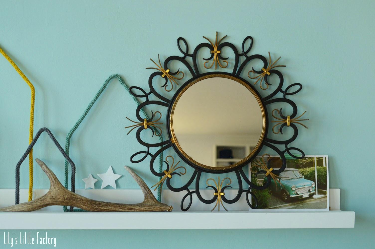transformer une horloge vintage en miroir lily 39 s little factory blog diy bretagne. Black Bedroom Furniture Sets. Home Design Ideas
