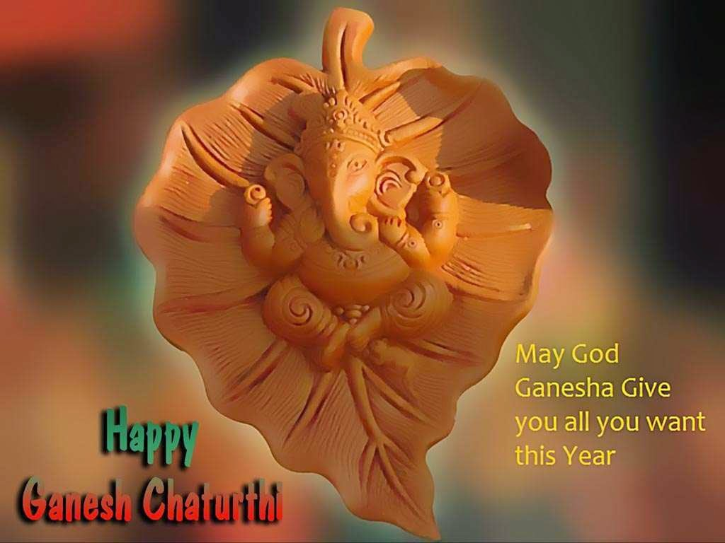 Happy Ganesh Chaturthi HD Wallpapers Free Download