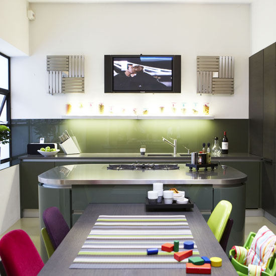 Mix and chic chic and gorgeous kitchens in every style - Stylishly modern kitchen islands additional work surface ...