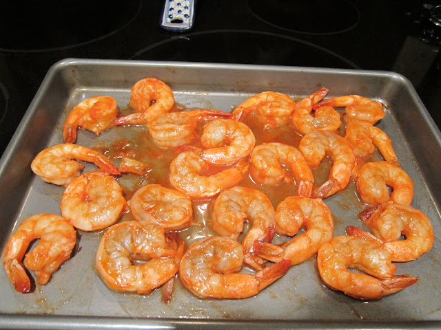 cooked shrimp the pan came out after 5 minutes so that each shrimp ...