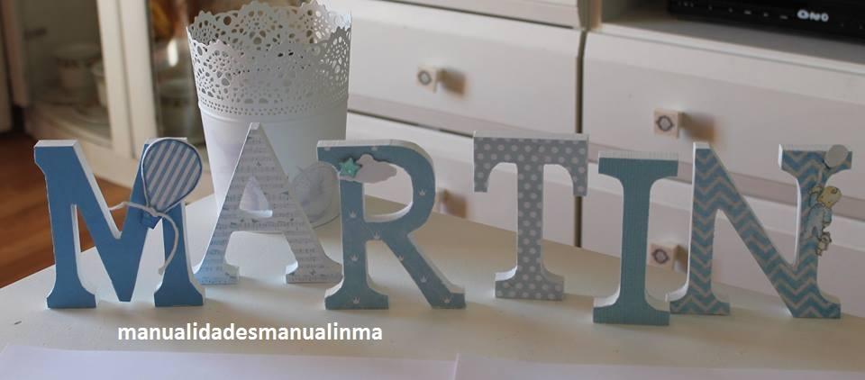 Letras de madera para bebe materiales para la renovaci n - Casa letras madera ...