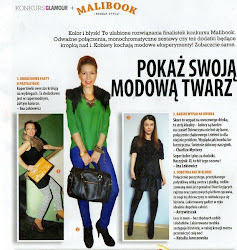 "Me in polish edition of ""GLAMOUR"""