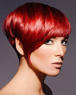 Rote Haare mit Pony 2012/2013