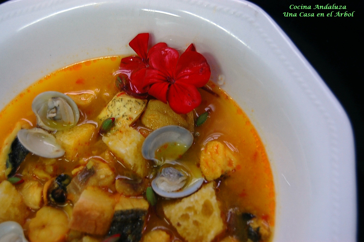 Cocina andaluza sopa de pescado y mariscos - Sopa de marisco y pescado ...