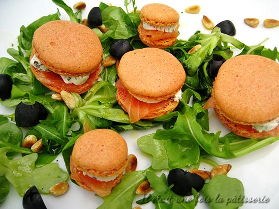 Recette de salade de macarons salés au saumon fumé