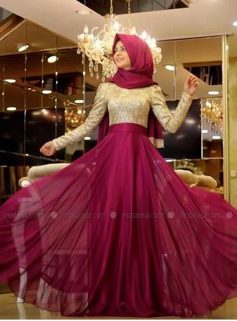 Robe de soirée pour femme voilée pas cher
