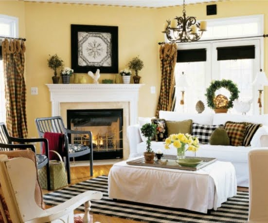 Country Living Room Decorating