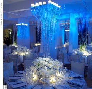 Ideias de Decoração de noivado azul