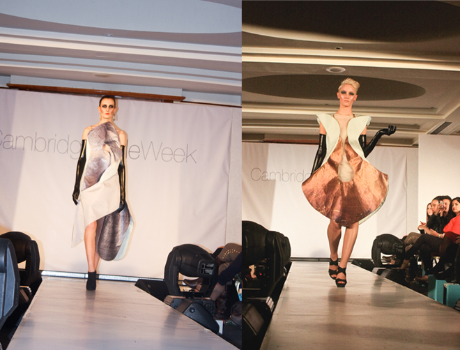 Cambridge Style Week student designs metallic