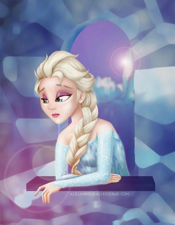 Elsa Frozen by Alejandro Ballesteros