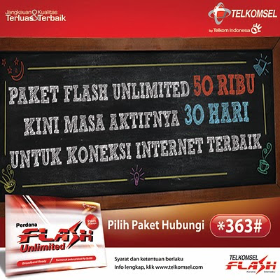 paket telkomsel flash unlimited promo 50ribu