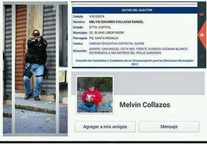 Melvin Eduardo Collazos Rangel,Servicio Bolivariano de Inteligencia Nacional,SEBIN,  estudiante Bassil Alejandro Dacosta,policia mata estudiante en Venezuela,