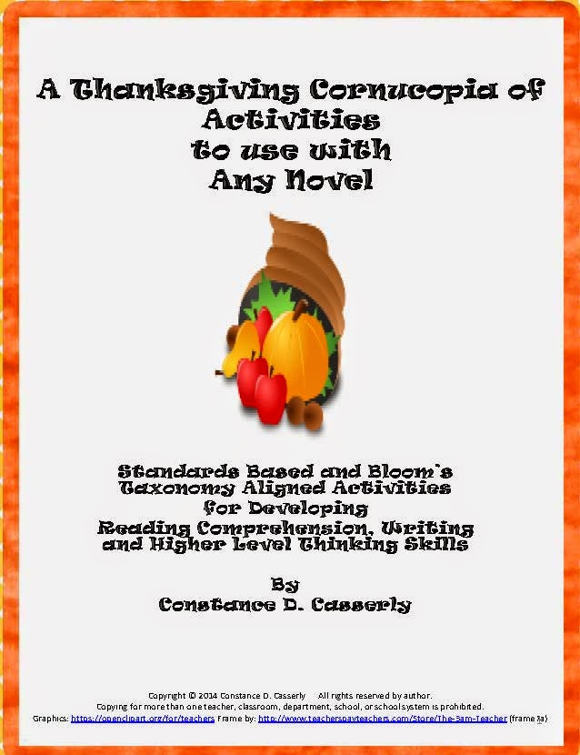 Comprehension,Writing and Thinking- A Thanksgiving Cornucopia of Activities