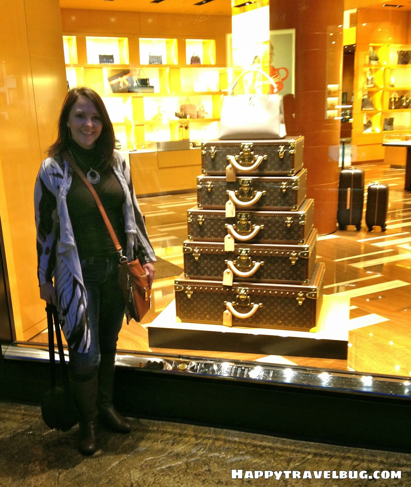 Louis Vuitton luggage at the Forum Shops in Las Vegas