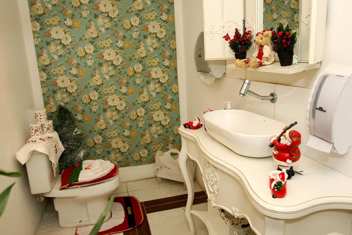 decoracao de lavabo para o natal: que não poderia ficar de fora vamos decorar o banheiro e o lavabo
