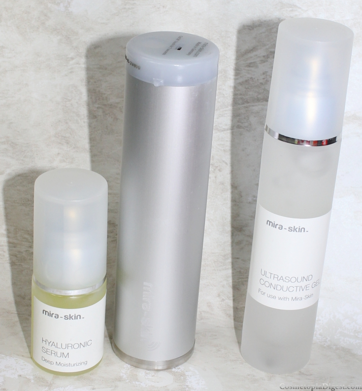 Home Facials With Mira-Skin Ultrasound Skincare Device and Hyaluronic Serum