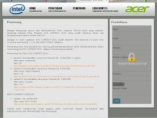 Pemenang Kontes Seo Acer Aspire S3 SEO Contest 2012