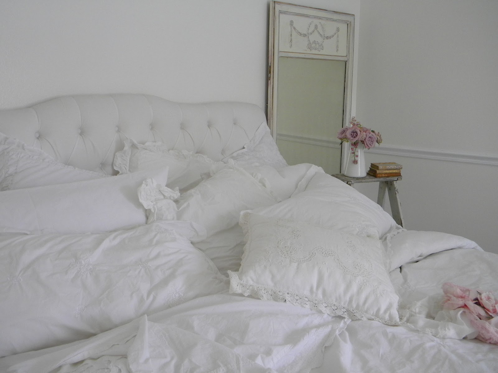 Simply me white bedding for spring