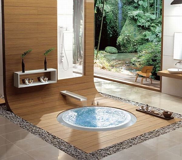 LUXURY RELAXING BATHROOM GREEN DESIGN
