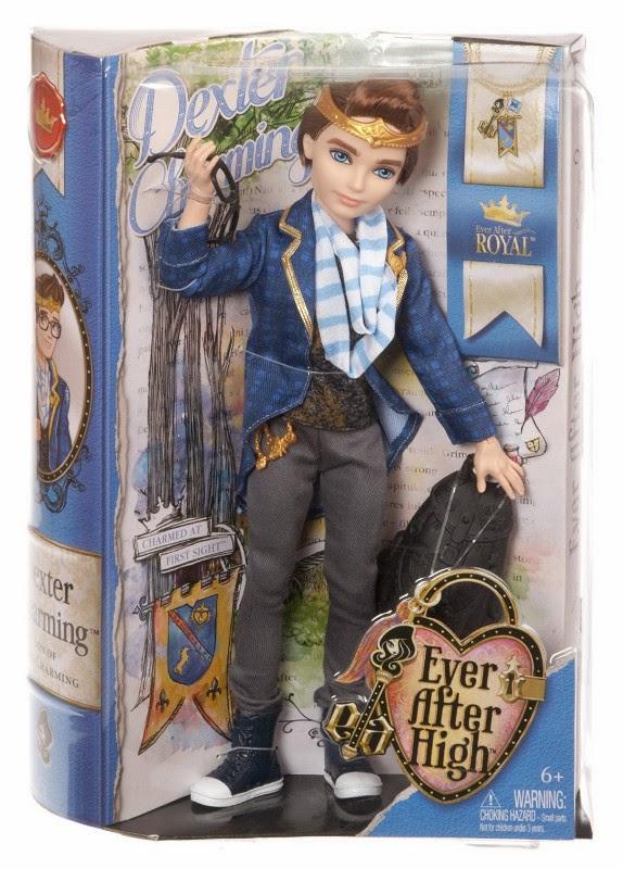 JUGUETES - EVER AFTER HIGH : Royal  Dexter Charming | Muñeco  Producto Oficial 2014 | Mattel BJH09 | A partir de 6 años