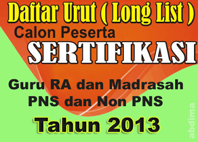 Long List Sergu Kemenag 2013