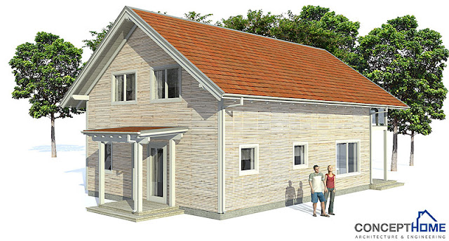 Affordable home plans affordable home plan ch41 for Economic house plans