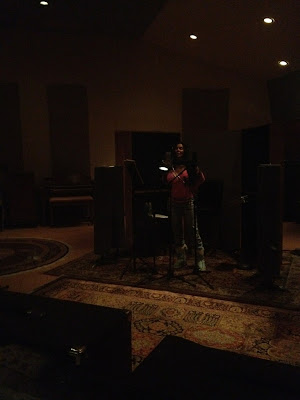 Unedited photo: Cher in the recording studio