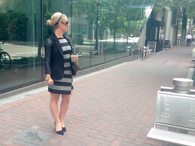 striped dress, banana republic dress, marissa webb