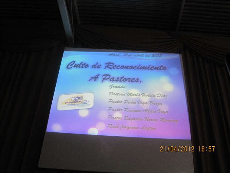 Reconocimiento 21 Abril 2012
