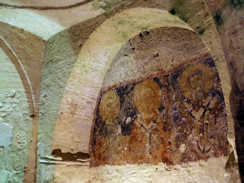 Fresken in der Grottenkirche San Salvatore in Giurdignano (Apulien)