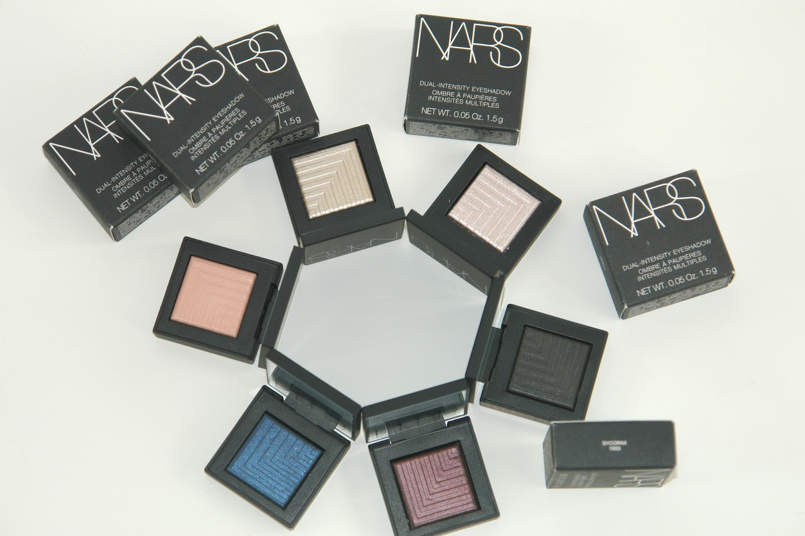 NARS Dual-Intensity Eyeshadows, eye shadows, make up, NARS, review, Space NK, swatches, make up look, Europa, Dione, Callisto, Giove, Subra, Sycorax, Andromeda, Cassiopeia, Desdemona, Himalia, Lysithea, Phoebe, MUA, UK beauty blog, top beauty blog, bbloggers, new launch, Space NK exclusive,