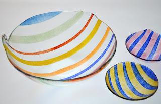 vaisselle contemporaine verre fusionné