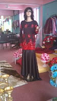 Dress Merah Hitam