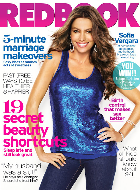 sofia Vergara on the cover of TRedbook