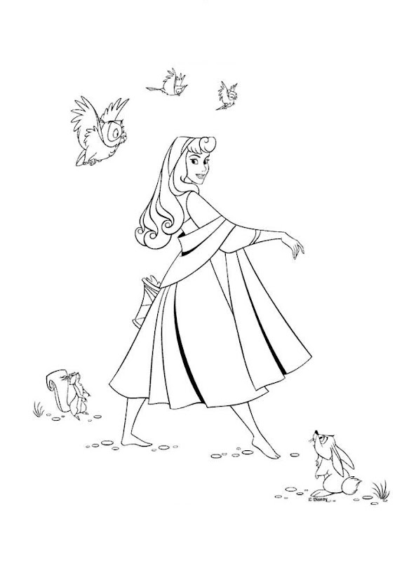 สี Disney Princess Aurora , Sleeping Beauty coloring pages title=